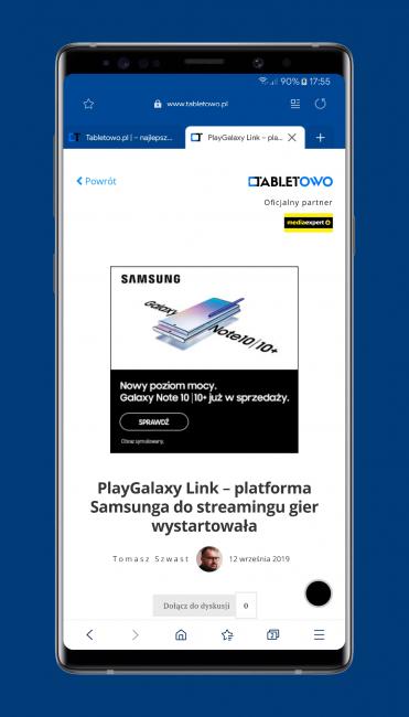 Mobilna przeglądarka Samsung Internet Browser Beta właśnie stała się jeszcze lepsza 20