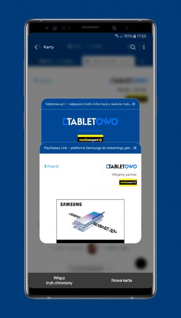 Mobilna przeglądarka Samsung Internet Browser Beta właśnie stała się jeszcze lepsza 21