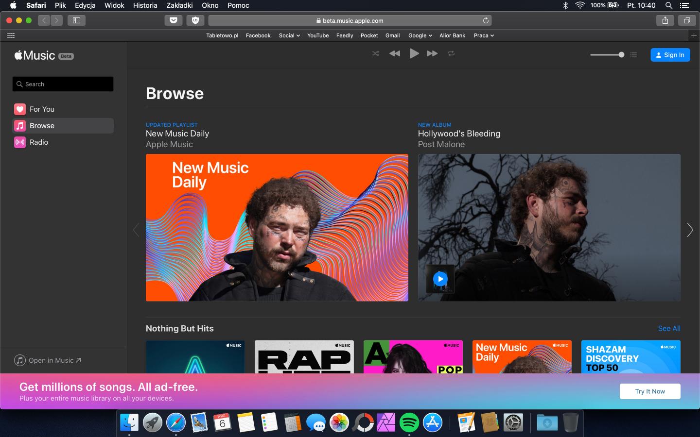 Apple Music wreszcie trafia do przeglądarki internetowej