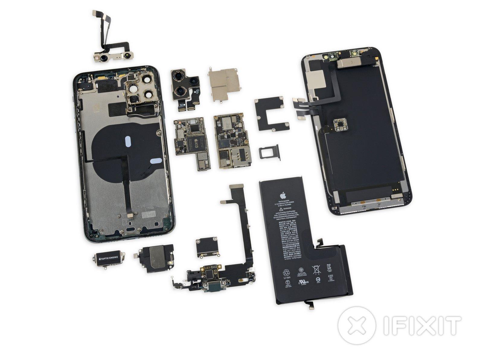 iPhone 11 i iPhone 11 Pro Max dokładnie rozebrane przez iFixit