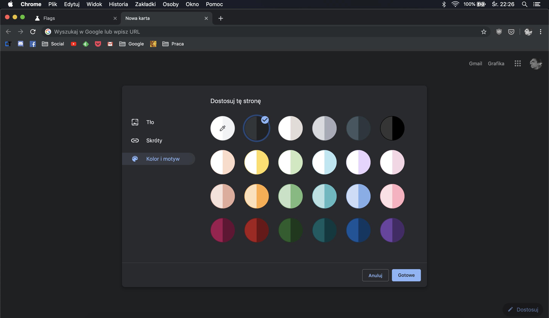 Google Chrome 77 i ukryte funkcje – przyciski do sterowania muzyką i kolorowe motywy
