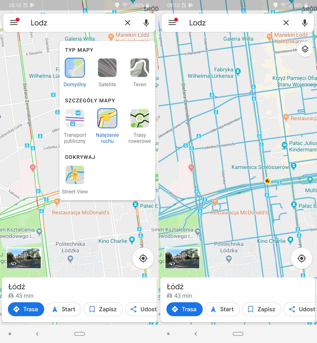 Mapy Google z nową warstwą na Androidzie. iOS czeka na swoją kolej
