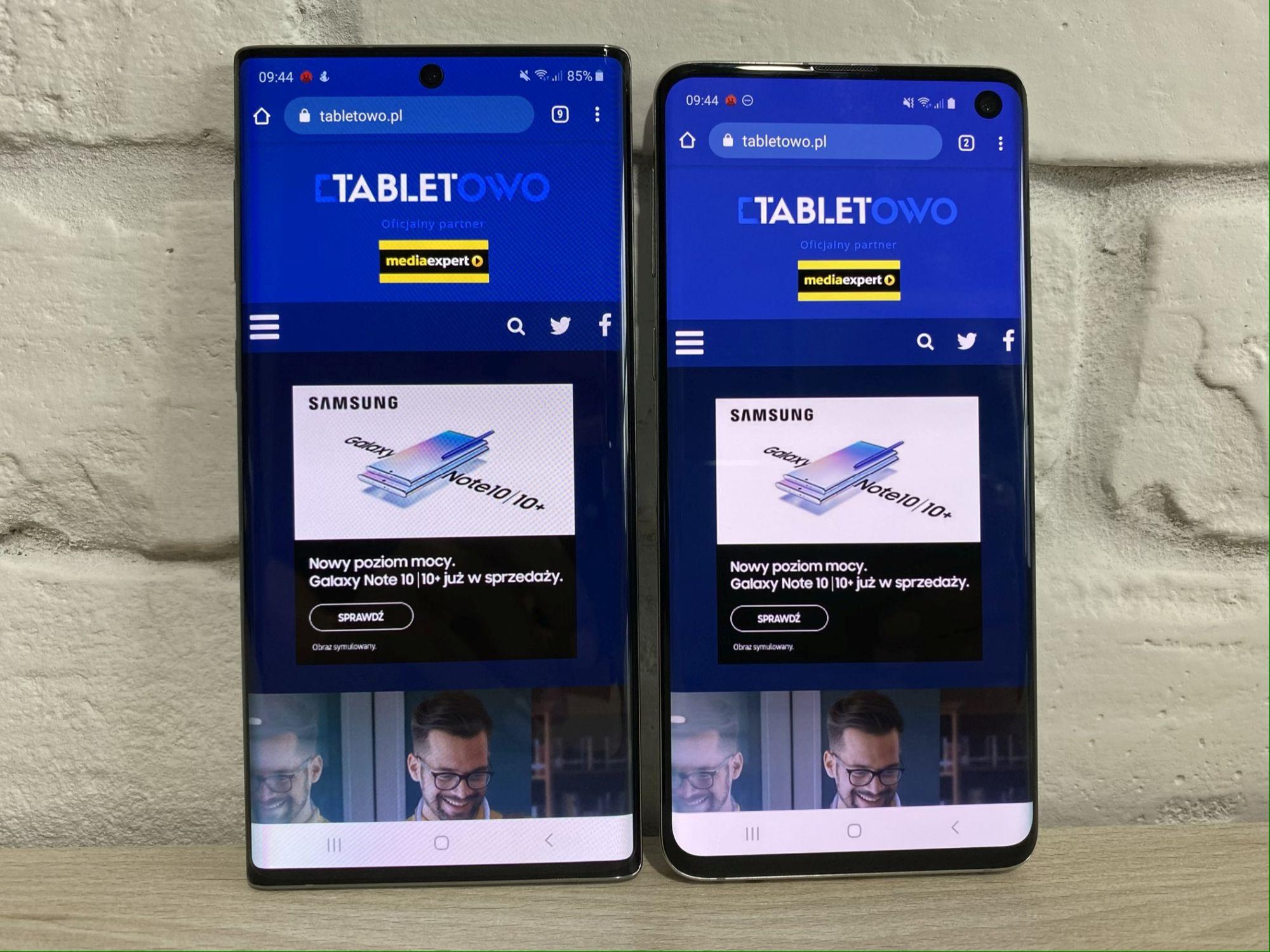 Porównanie: Samsung Galaxy Note 10 vs Samsung Galaxy S10 24