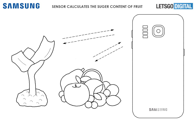 Patent Samsunga pozwoli smartfonowi zbadać, ile cukru jest w jabłku leżącym na stole
