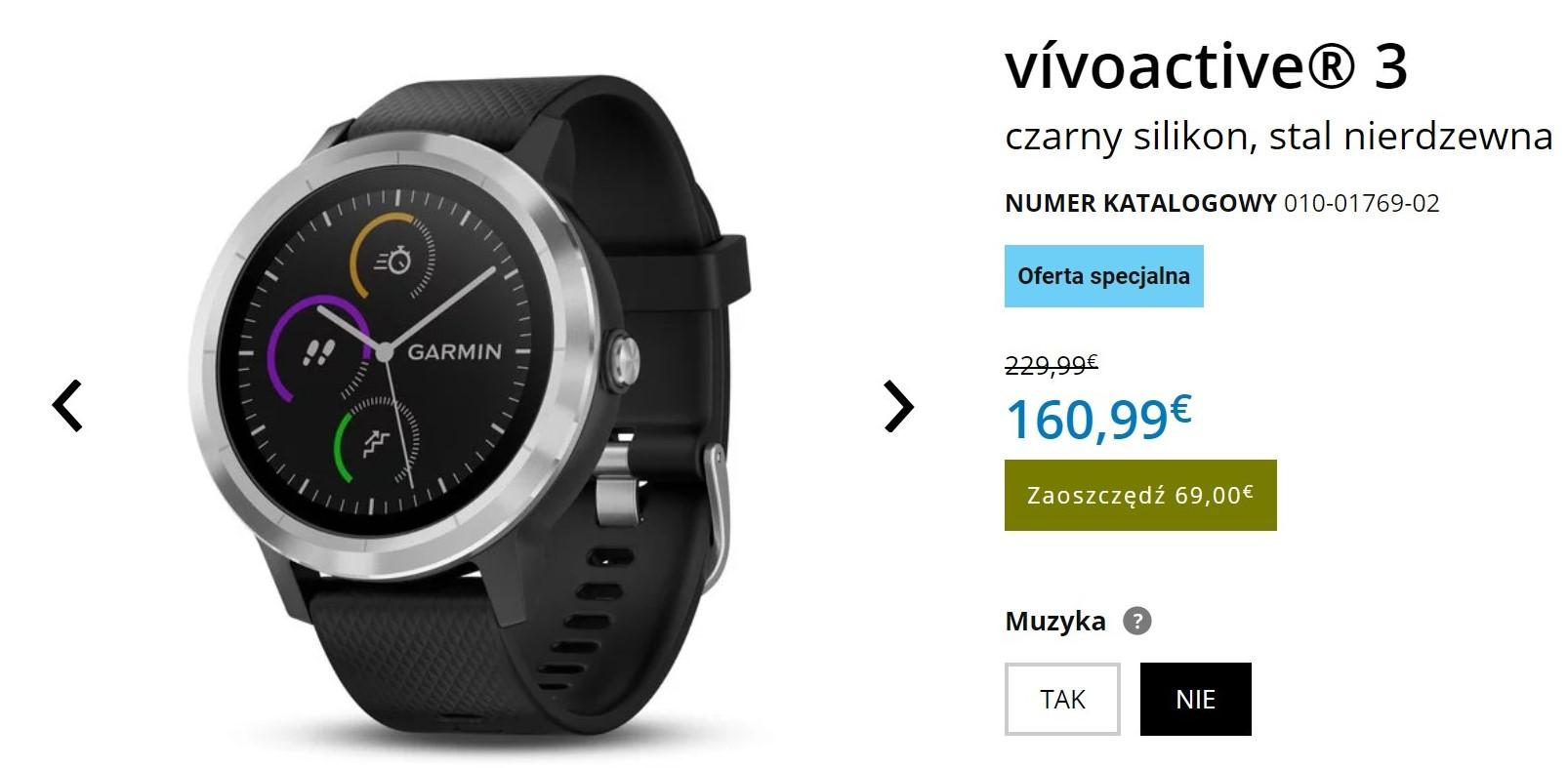 Z okazji 30-lecia Garmina, kupicie smartwatch vívoactive 3 (i inne produkty firmy) znacznie taniej!
