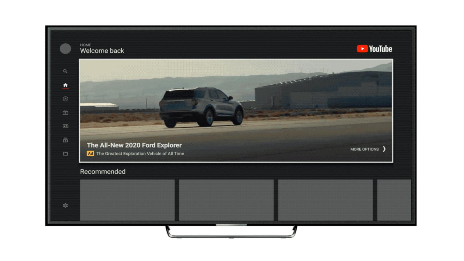 YouTube wprowadza irytujące reklamy na prawie cały ekran TV