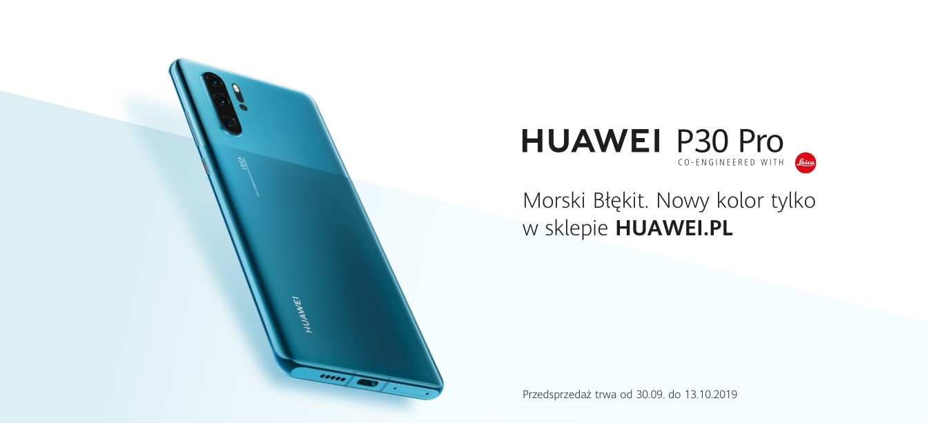 smartfon Huawei P30 Pro Morski Błękit