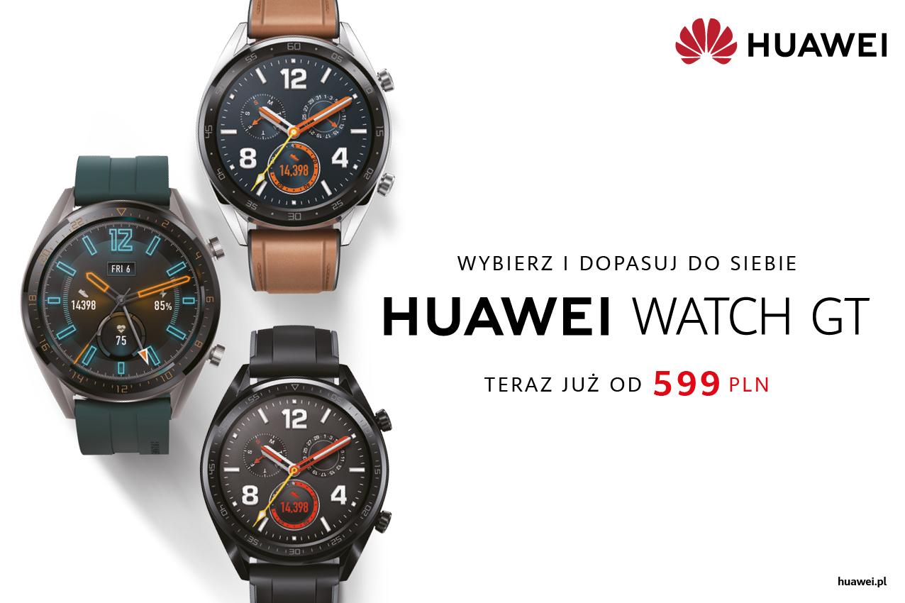 Ceny smartwatchy Huawei Watch GT spadają. Obniżka potrwa aż do wyczerpania zapasów
