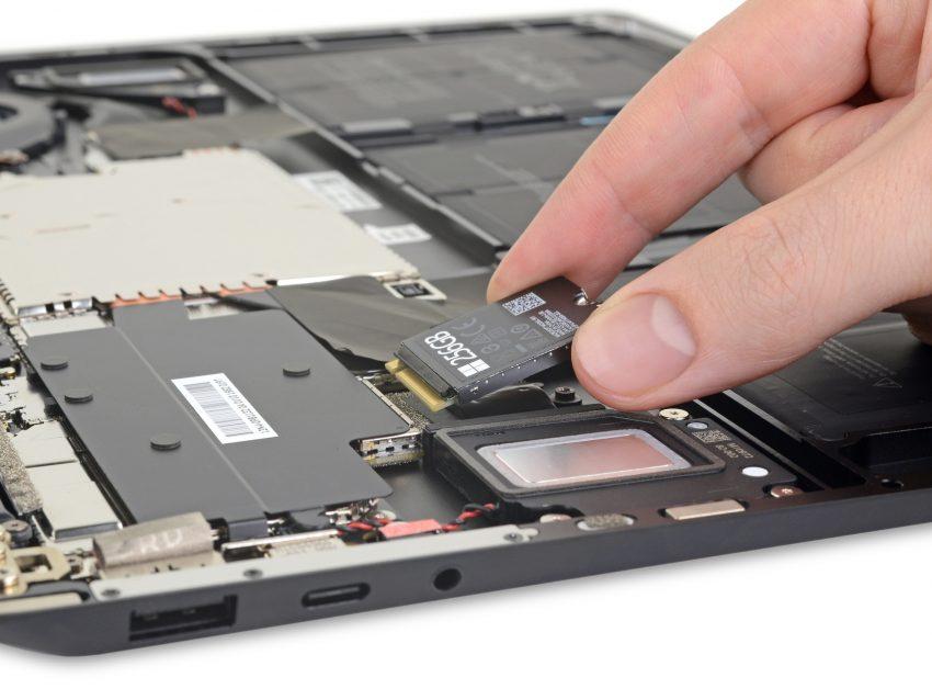 wymiana dysku SSD w Microsoft Surface Laptop 3