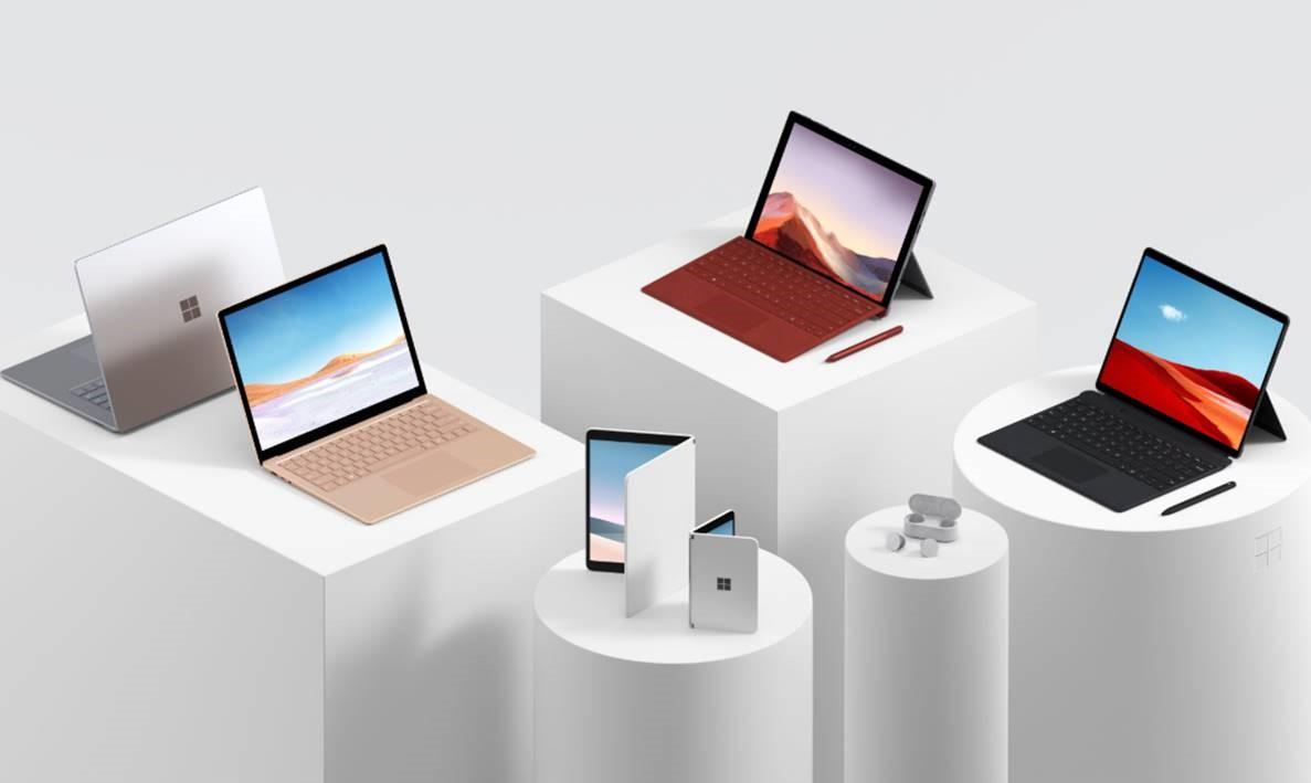 Microsoft Surface Laptop 3, Surface Pro 7, Surface Pro X, Surface Earbuds, Surface Neo, Surface Duo