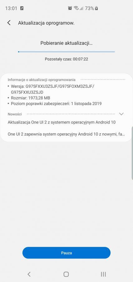 Ruszyły zapisy do Android 10 i One UI 2.0 beta dla Galaxy S10e/S10/S10+ 21