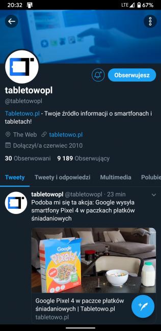 """Ciemniej już się nie da - Twitter wprowadza tryb """"Lights out"""" w aplikacji na Androida"""