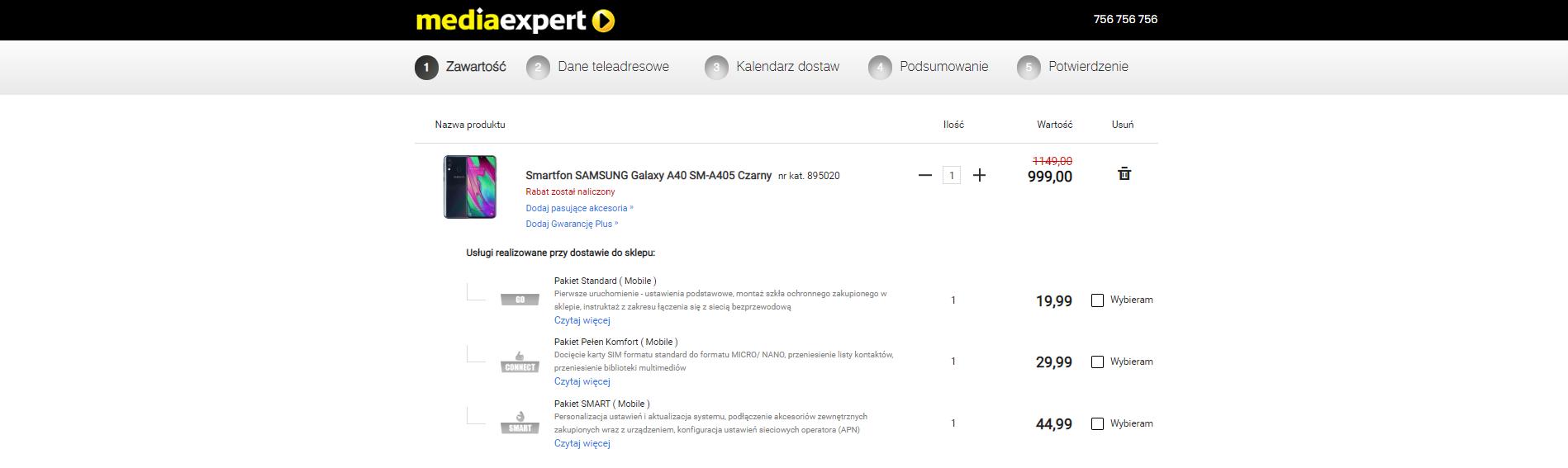 Samsung Galaxy A40 poniżej tysiąca złotych - tylko do poniedziałku