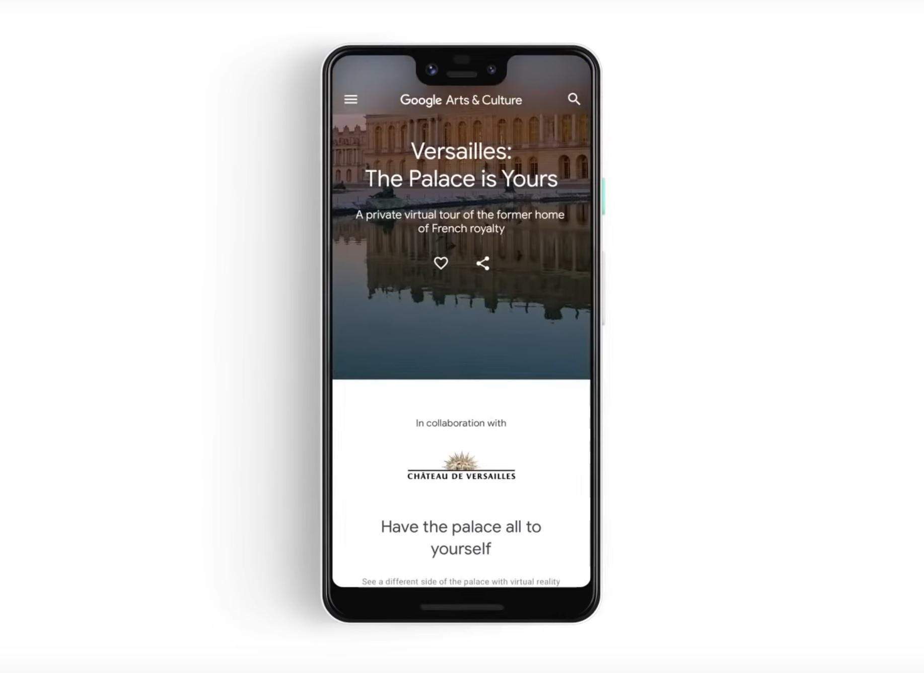 Zwiedzanie pałacu wersalskiego za darmo? Tak, w aplikacji Google Arts & Culture