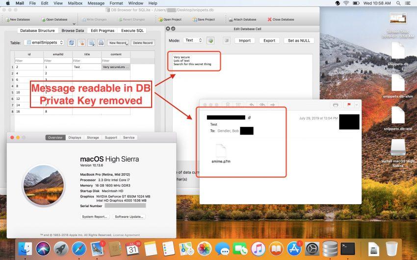 Problemy z szyfrowaniem e-maili w macOS