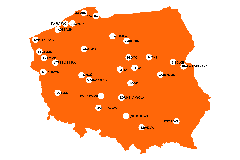 Oto mapa 30 Mi Points - punktów sprzedaży Xiaomi w Polsce 20