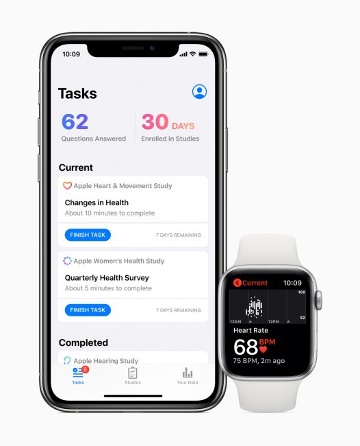 aplikacja Apple Research