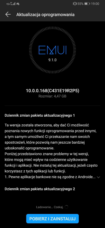 Huawei udostępnia Androida 10 dla flagowych smartfonów z serii Mate 20 oraz P30 21