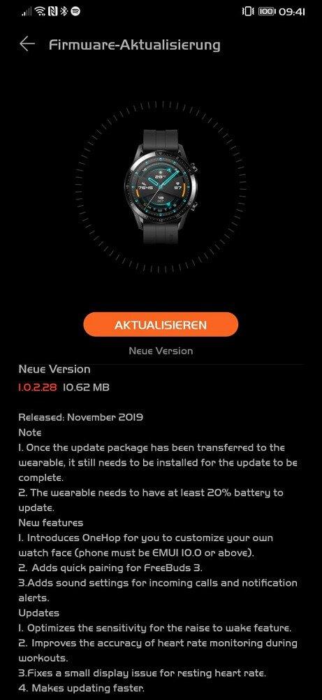Aktualizacja dla Huawei Watch GT 2 przynosi garść ważnych nowości