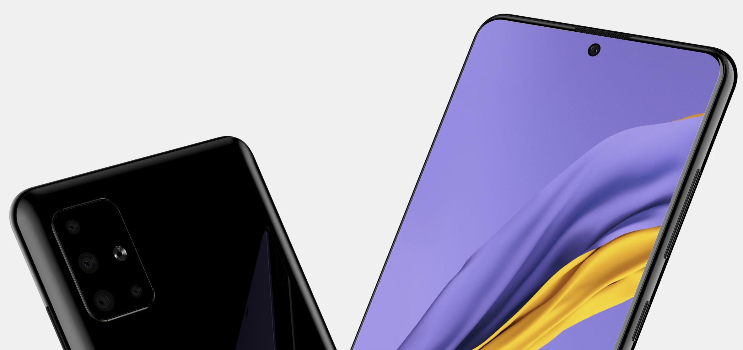 Samsung Galaxy A51 będzie miał otwór w ekranie jak Galaxy Note 10 20