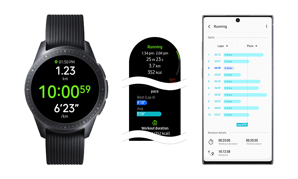 Galaxy Watch i Galaxy Watch Active dostają funkcje z Galaxy Watch Active 2
