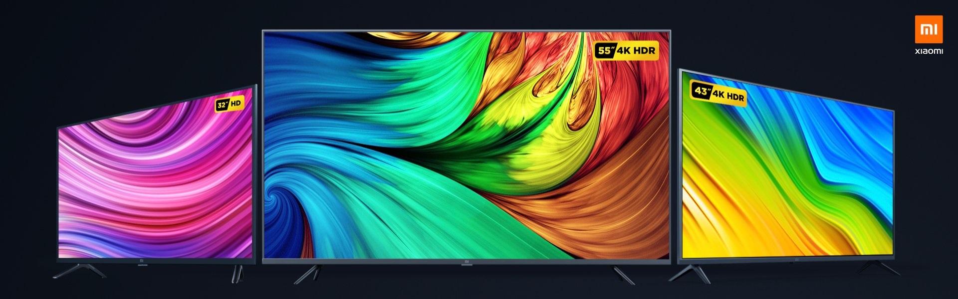"telewizor Xiaomi Mi TV 4A 32"", Xiaomi Mi TV 4S 55"" i Xiaomi Mi TV 43"""