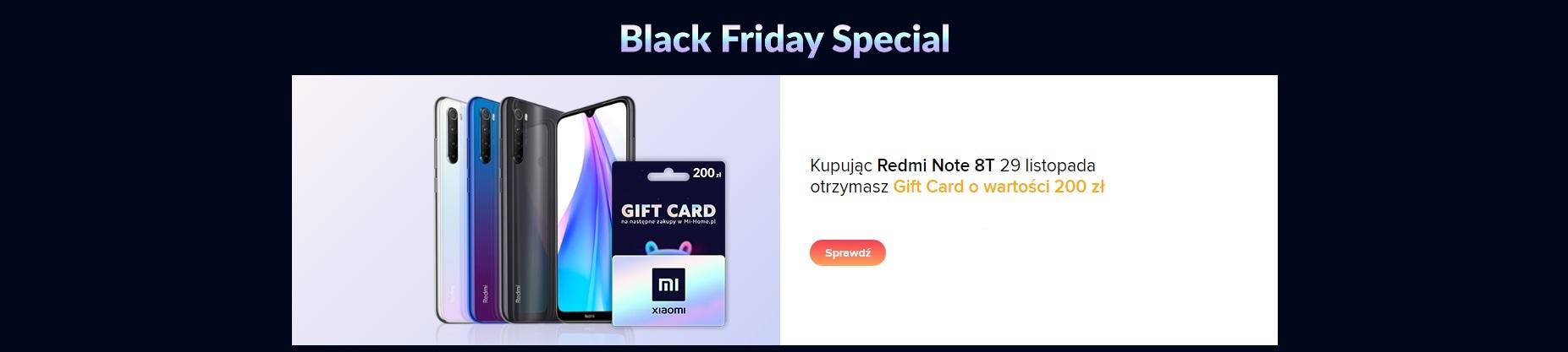 Uwaga: doskonała promocja na sprzęt Xiaomi! Przy zakupie Redmi Note 8T dostaniesz kartę podarunkową na 200 zł 16