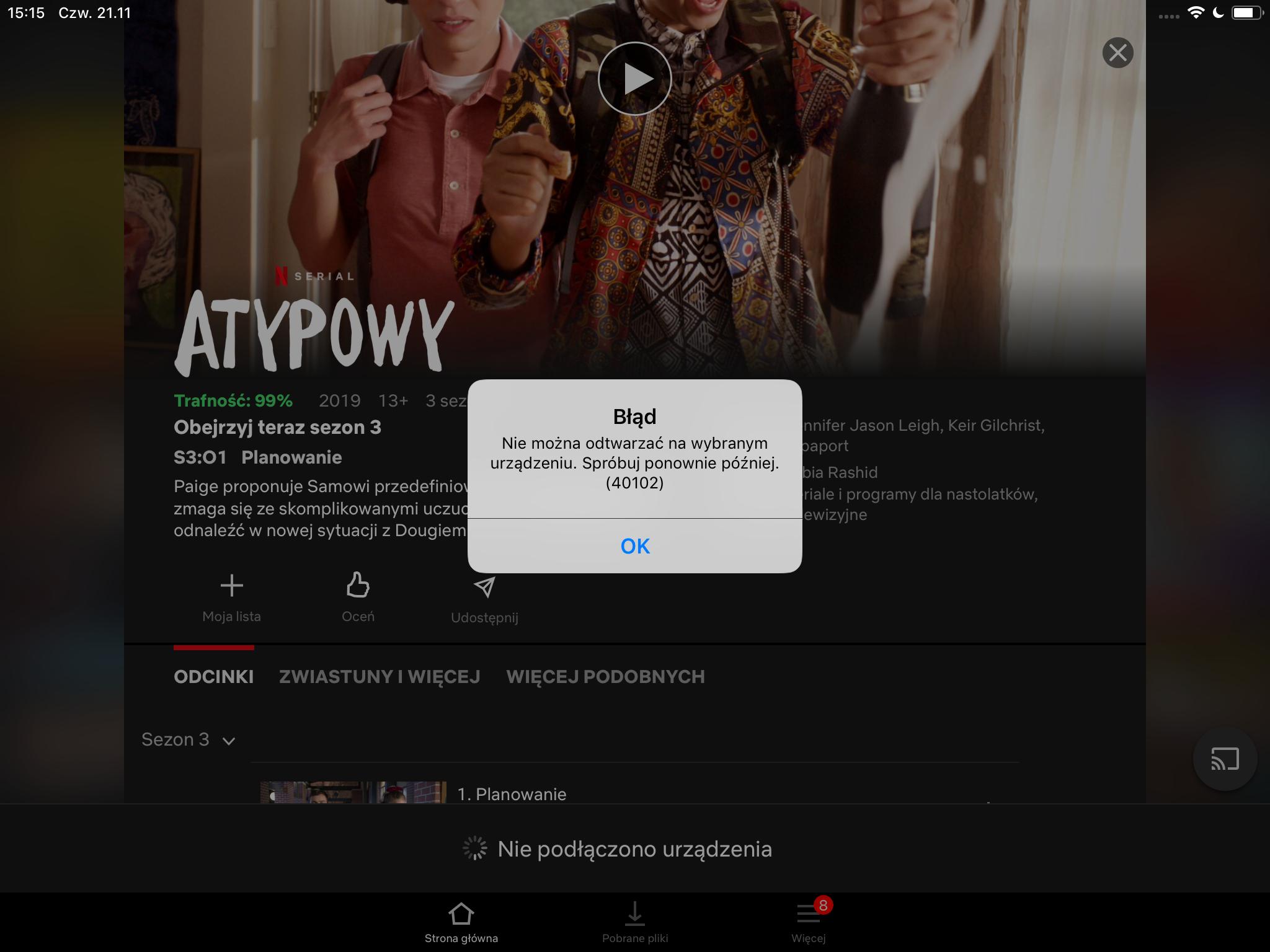 Netflix ma sporą awarię. Można przerzucić się na mobile, ale i to nie zawsze działa 18