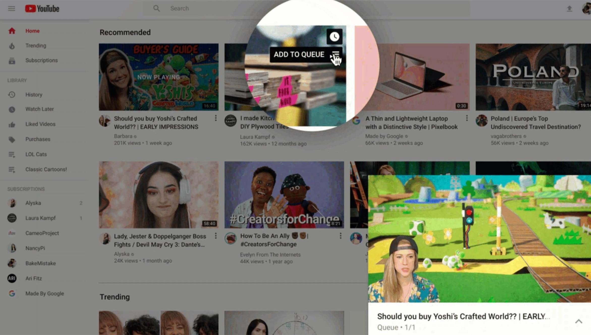 Nowy wygląd YouTube'a na komputerach i tabletach. Jest bardziej przejrzyście