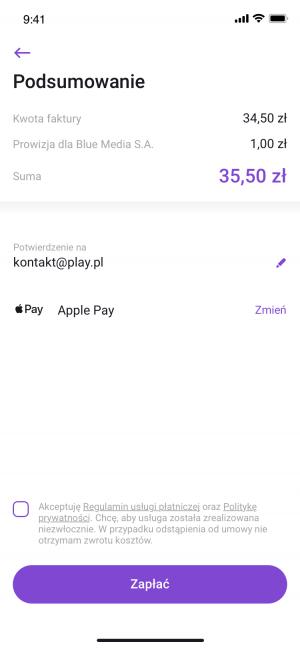 W Play24 opłacisz teraz fakturę za pomocą Apple Pay, Google Pay lub BLIKA