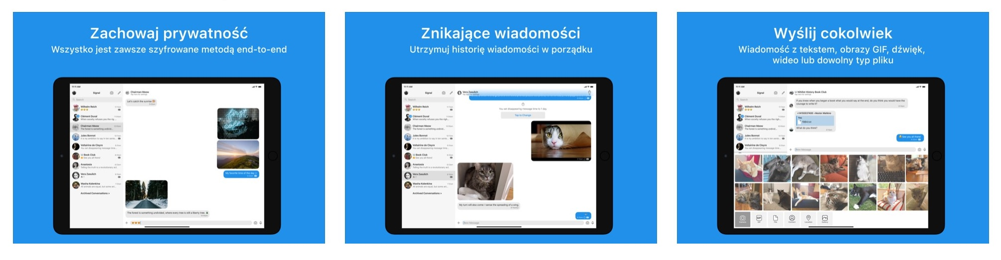 Bezpieczny komunikator Signal dostaje specjalną wersję na iPady 23