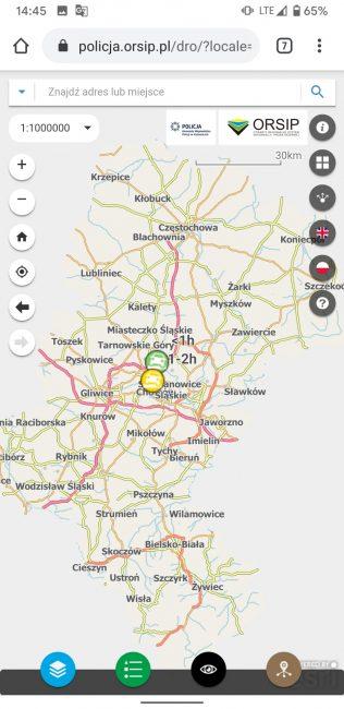 Śląska Policja stworzyła mapy, które ostrzegą o wypadkach i podadzą czas utrudnień na drogach