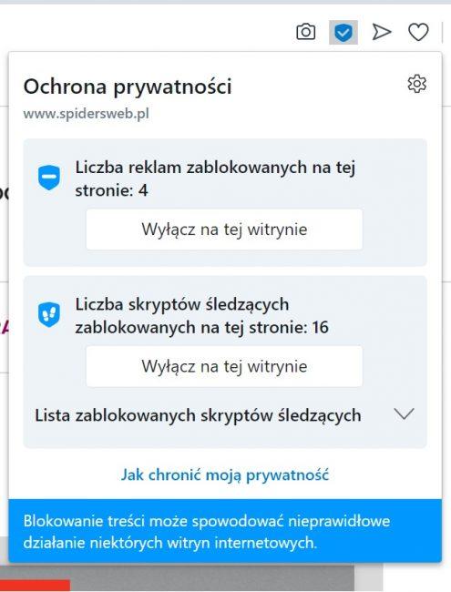 Nowa Opera pokaże Ci, jak bardzo jesteś śledzony przez strony internetowe