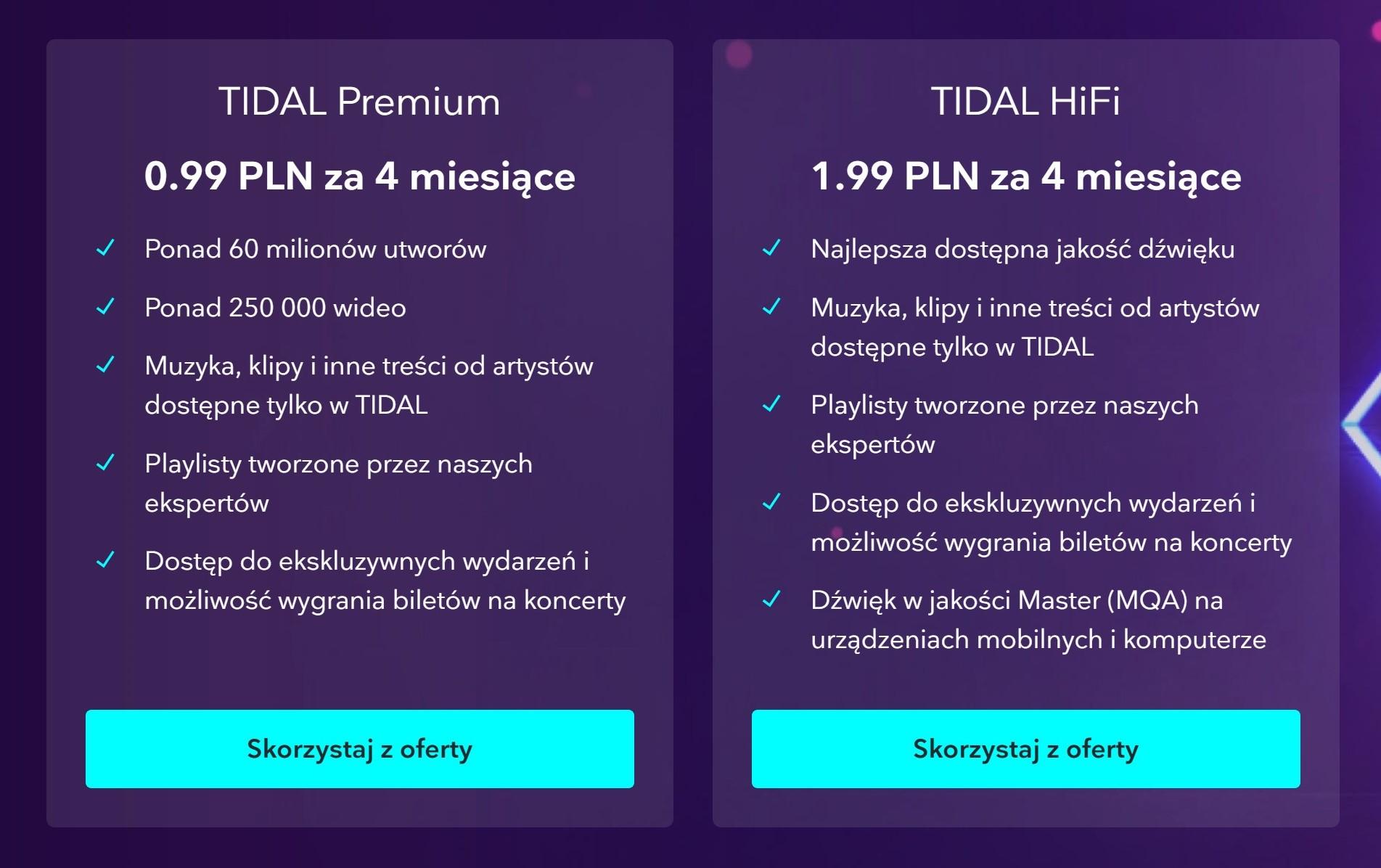 Świetna promocja: Tidal Premium i Tidal Hi-Fi na cztery miesiące prawie za darmo 19