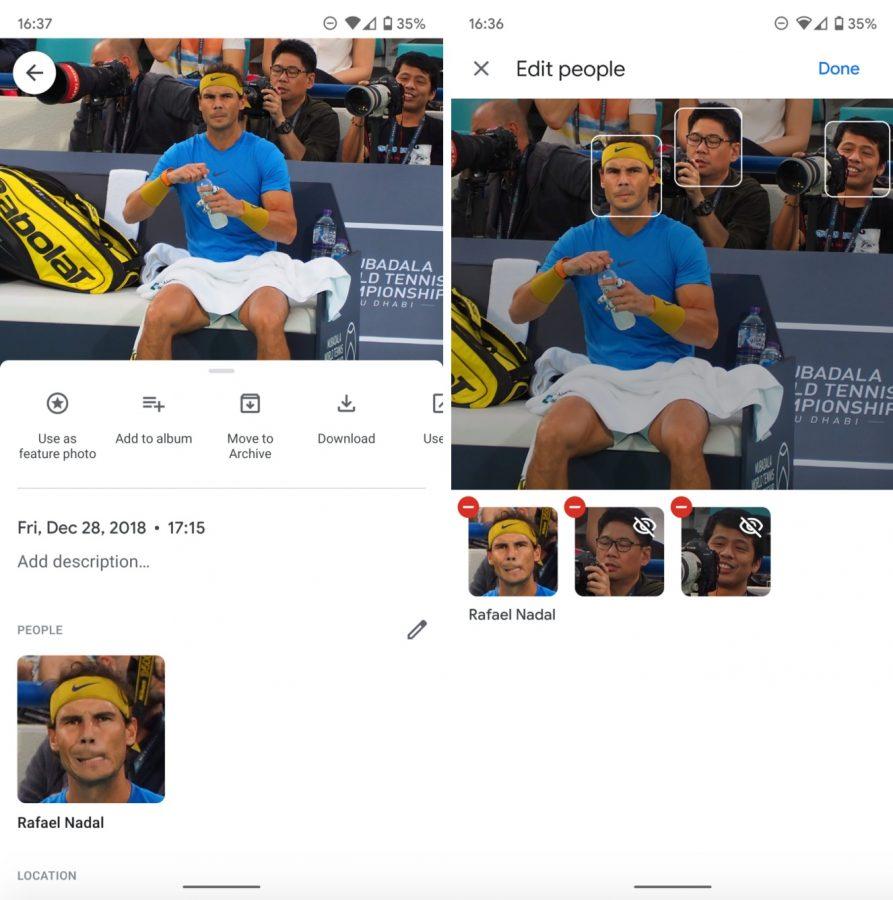 Zdjęcia Google pozwalają na ręczne oznaczanie osób, ale są ograniczenia