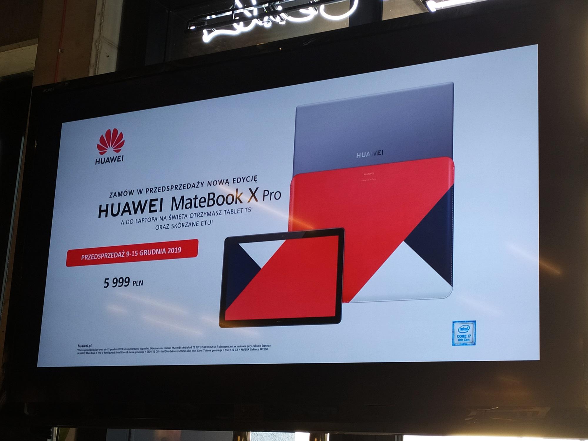 laptop Huawei MateBook X Pro 2019 cena