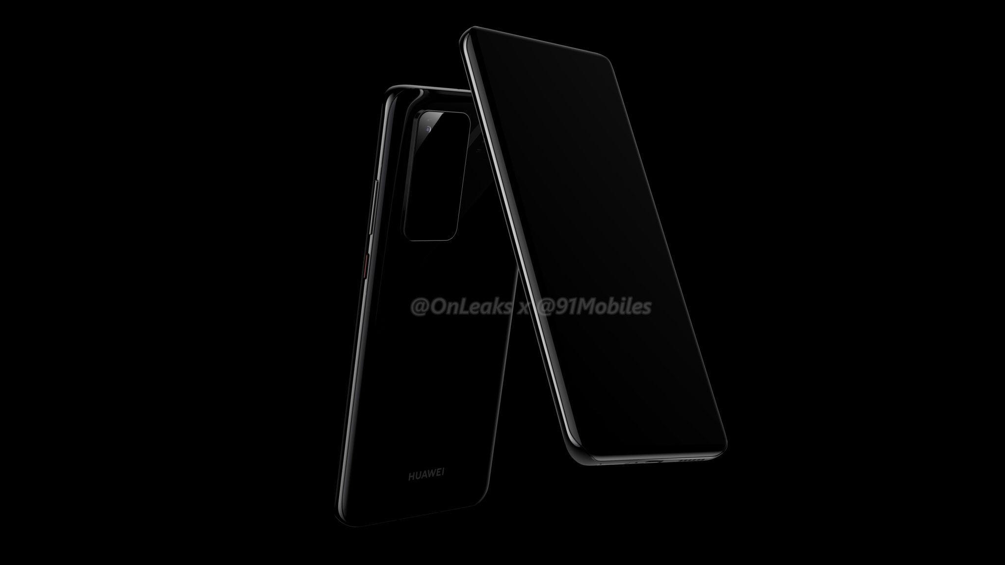 smartfon Huawei P40 Pro render