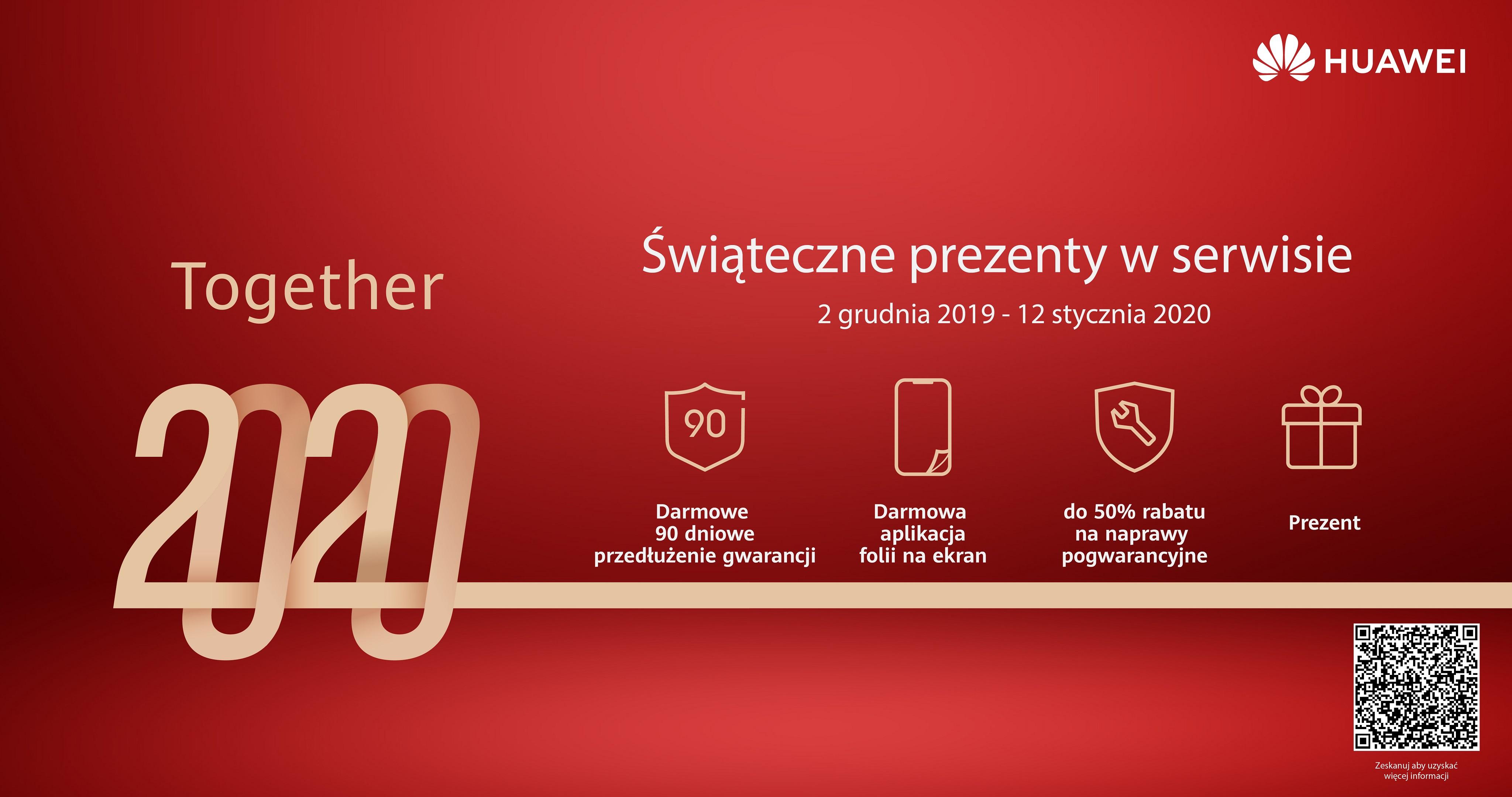 Darmowe akcesoria dla smartfonów Huawei oraz przedłużenie gwarancji w salonach serwisowych producenta!
