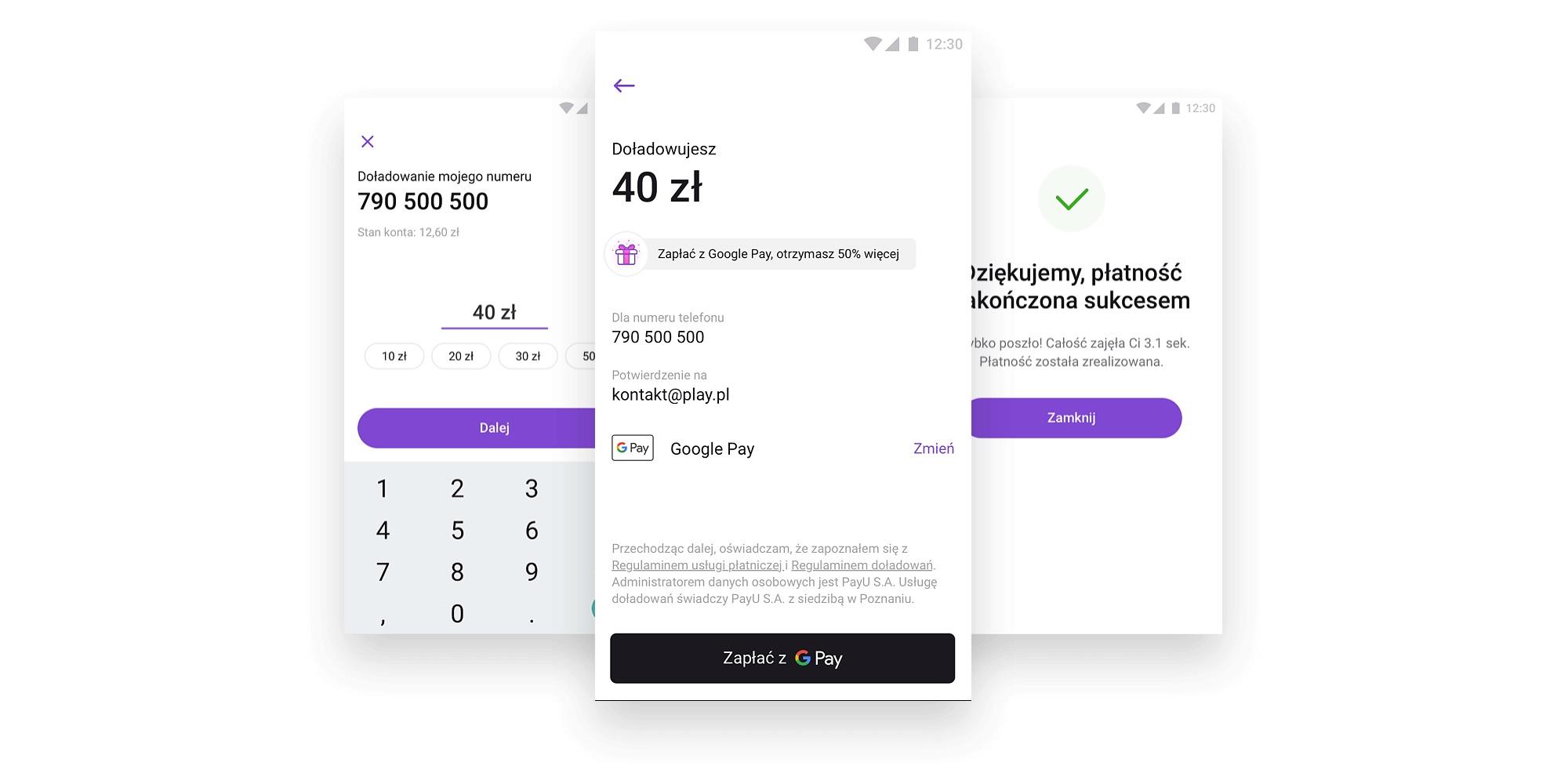 promocja Play doładowanie Google Pay Play24