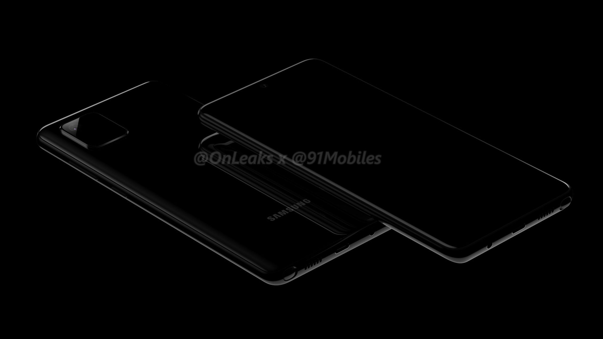 smartfon Samsung Galaxy Note 10 Lite / Galaxy A81 render