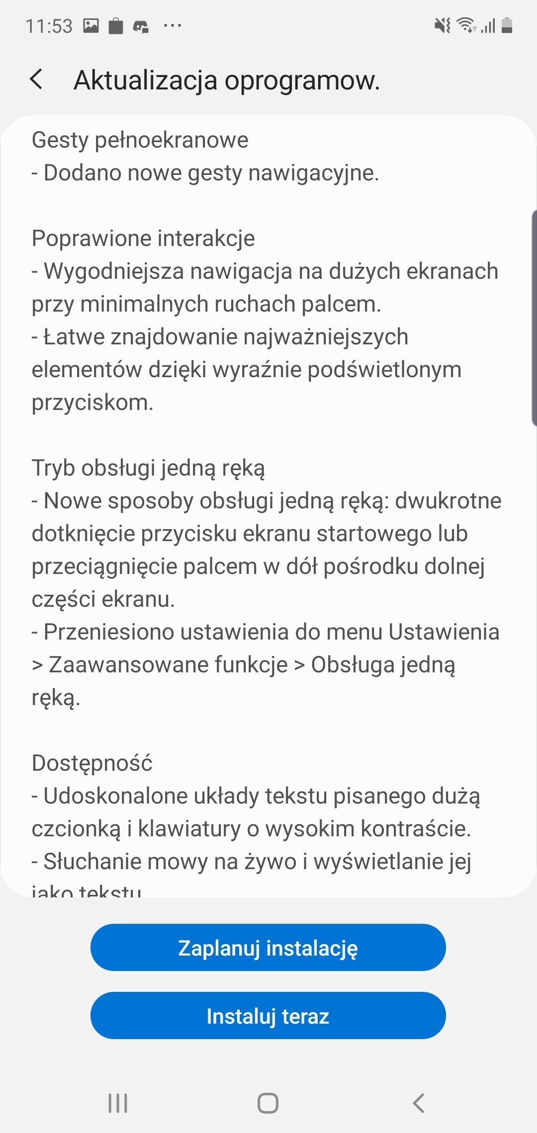 Samsung Galaxy Note 10+ dostaje aktualizację do Androida 10 i One UI 2 w Polsce! 19