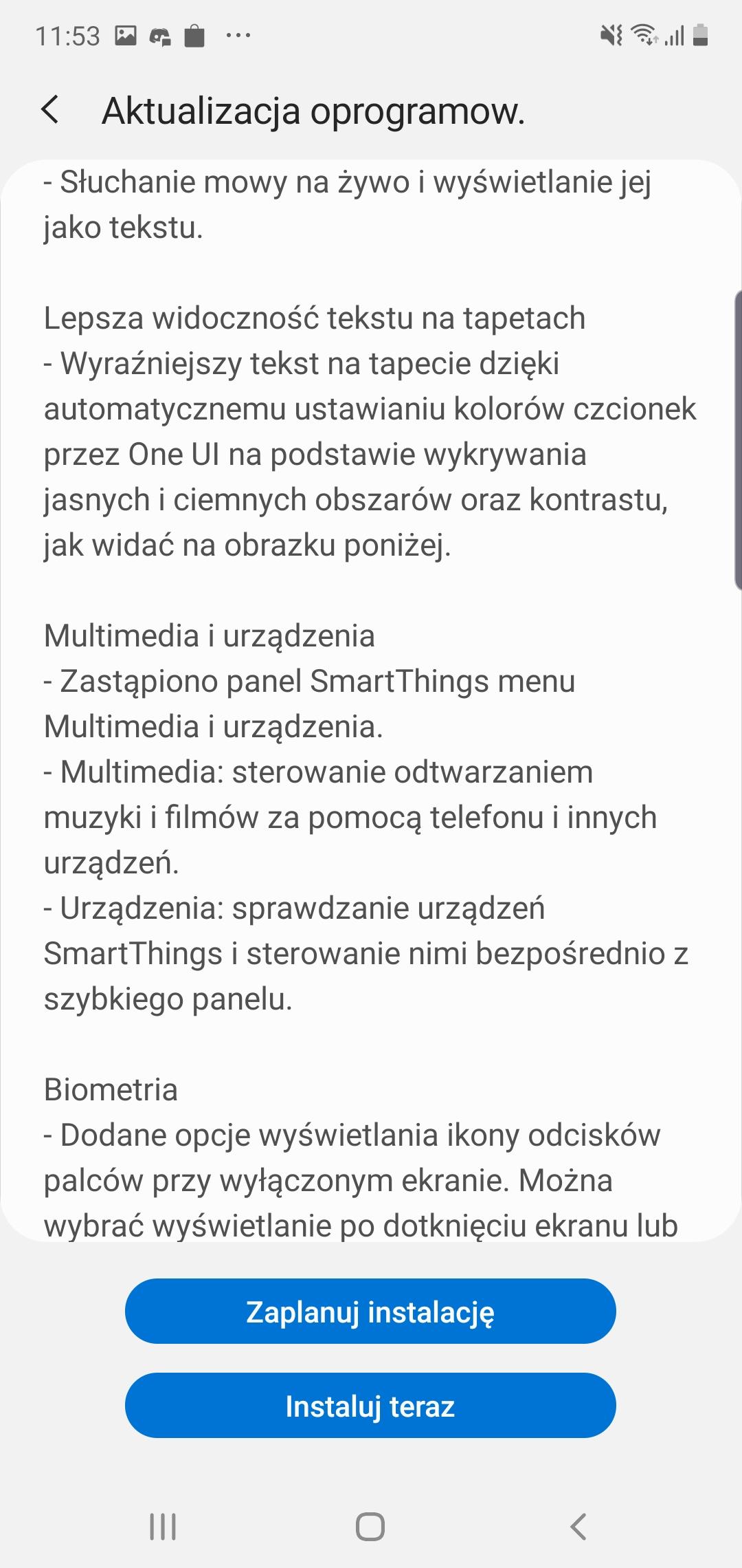 Samsung Galaxy Note 10+ dostaje aktualizację do Androida 10 i One UI 2 w Polsce! 20