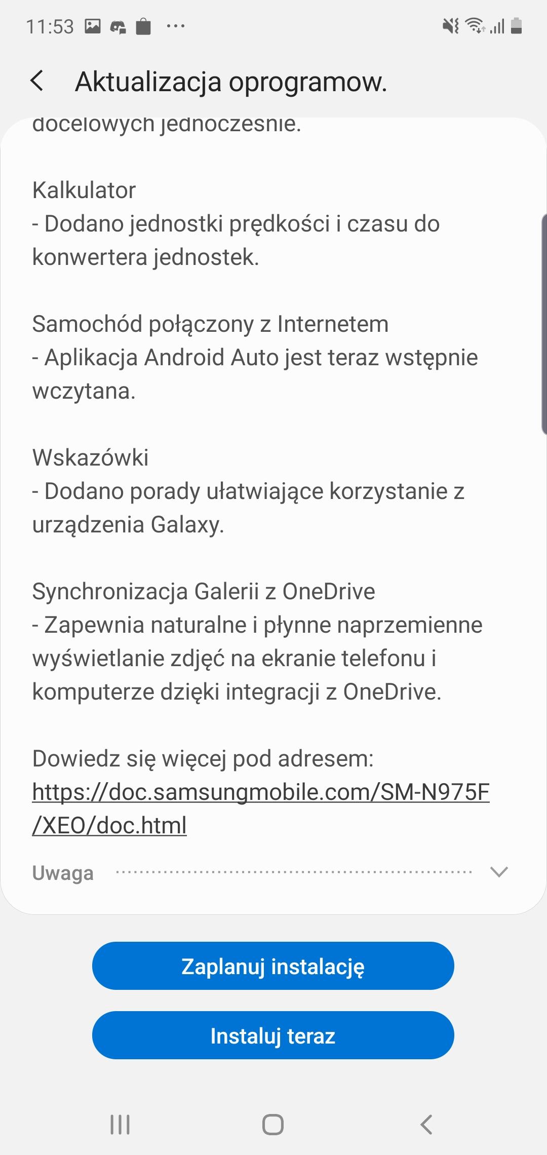 Samsung Galaxy Note 10+ dostaje aktualizację do Androida 10 i One UI 2 w Polsce! 24