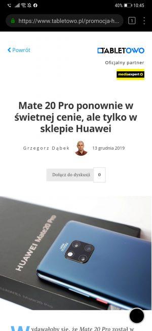 Huawei rozdaje smartfony. Wystarczy zrzut ekranu Przeglądarki, by powalczyć o P30 Pro 21