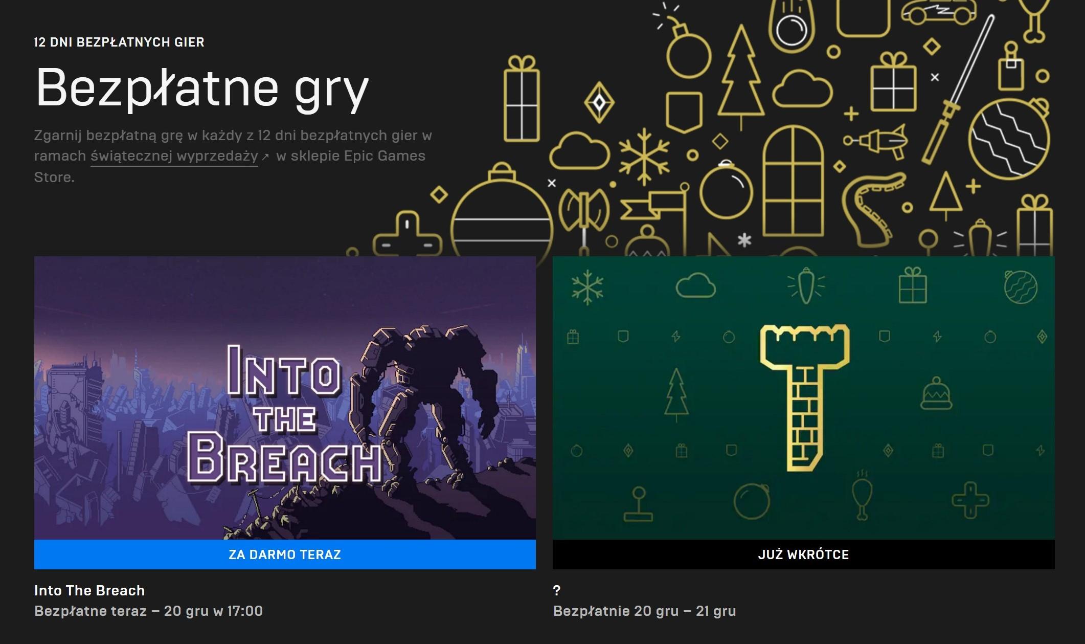 Epic Games Store do końca roku odda w sumie 12 gier za darmo! Codziennie nowy tytuł