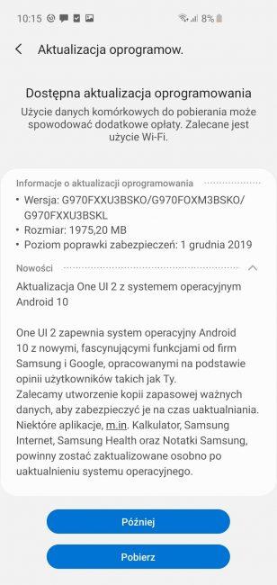 Android 10 dla smartfonów z rodziny Samsung Galaxy S10 już w Polsce! 19