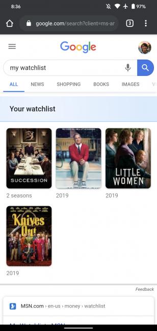 Wyszukiwarka Google z przydatną nowością. Nie przegapisz premiery filmu 20