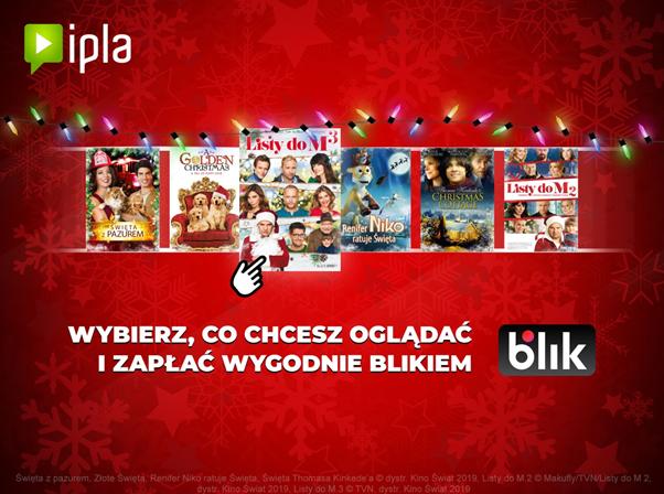 Za filmy na IPLA oglądane na Android TV, zapłacisz teraz za pomocą BLIKA