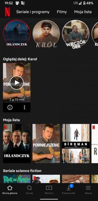 """Netflix ma w aplikacji opcję łatwego usunięcia filmu z sekcji """"Oglądaj dalej"""""""