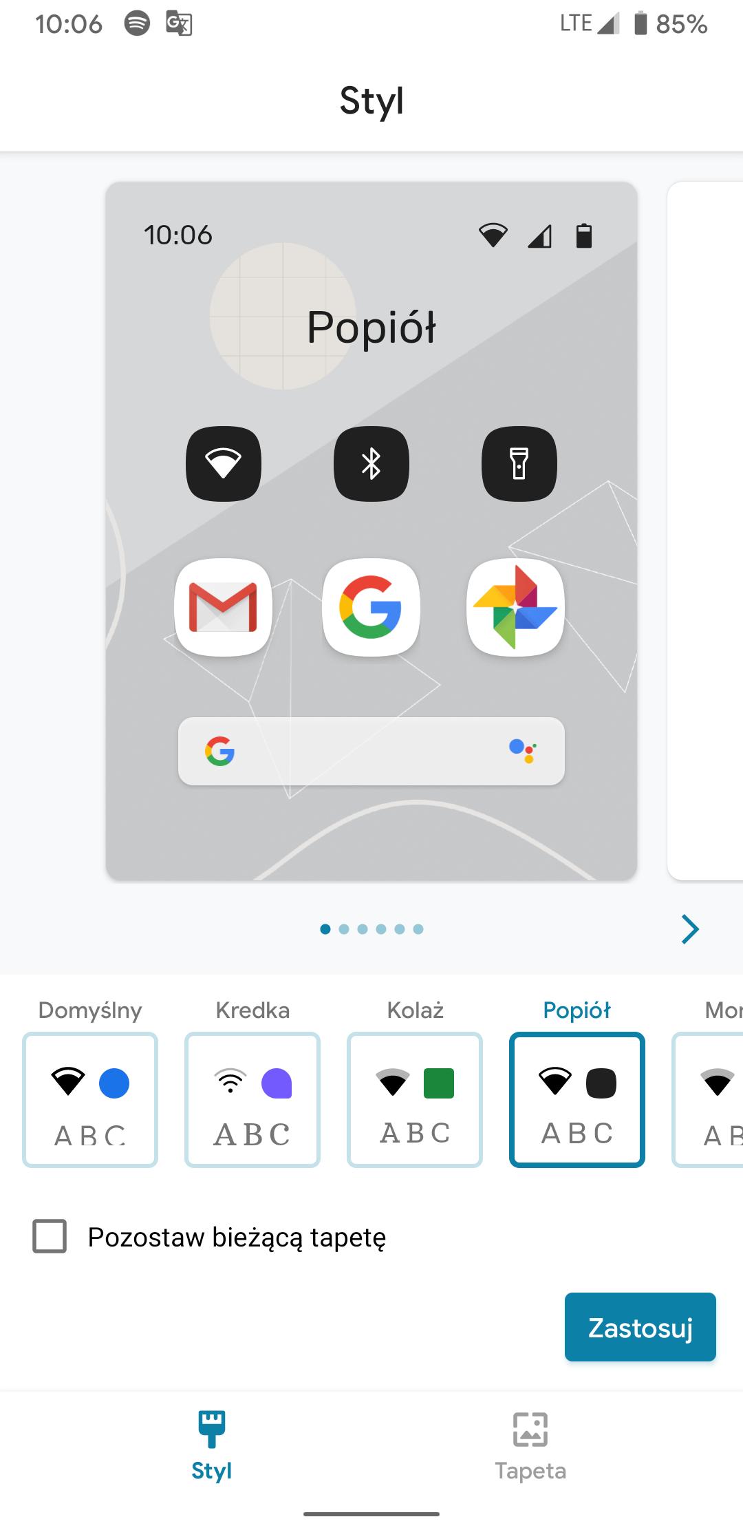 """Smartfony Google Pixel z aktualizacją wprowadzającą style interfejsu oraz """"Napisy na żywo"""" 27"""